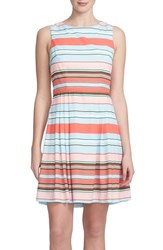 Women's Cece By Cynthia Steffe 'Claiborne' Crepe De Chine Fit And Flare Dress