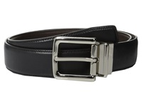 Cole Haan 32Mm Feather Edge Stitched Reversible With Harness Buckle Black Brown Men's Belts