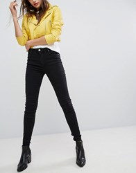 Bershka High Waisted Skinny Jean Black