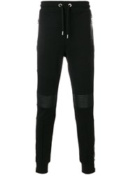 Les Hommes Ribbed Panel Track Pants Black