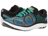 Brooks Pureflow 6 Peacock Peacock Green Black Women's Running Shoes Blue