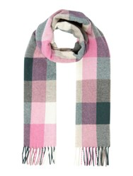 Gant Multicheck Lambswool Scarf Multi Coloured Multi Coloured