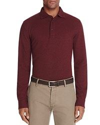 Brooks Brothers Knit Oxford Long Sleeve Regular Fit Polo Shirt Dark Red