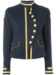 History Repeats Military Jacket Blue
