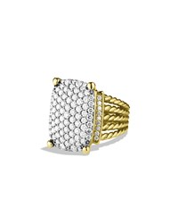Wheaton Ring With Diamonds In Gold David Yurman