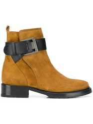 Lanvin Buckle Ankle Boots Brown