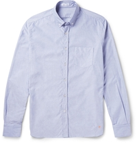 Tomas Maier Cotton Chambray Oxford Shirt Blue