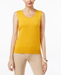 August Silk Scoop Neck Shell Golden Maze