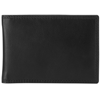 John Lewis Leather Travel Card Holder Black