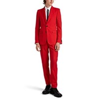 Givenchy Virgin Wool Two Button Suit Red