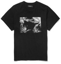 Amiri Printed Brushed Cotton Jersey T Shirt Black