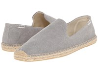 Soludos Smoking Slipper Washed Canvas Light Gray Slippers