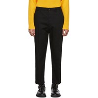 Christophe Lemaire Black Twill Chino Trousers
