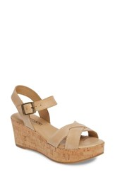 Cordani Candy Wedge Sandal Natural Leather