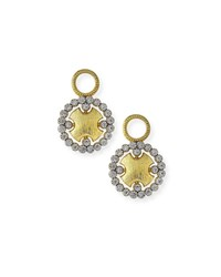 Jude Frances Provence Round Earring Charms With Diamonds Gold