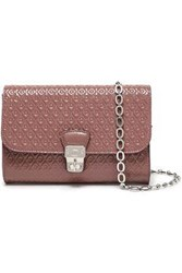 Tod's Woman Embossed Patent Leather Shoulder Bag Antique Rose