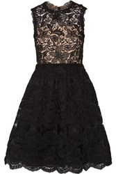 Mikael Aghal Crochet And Lace Dress Black