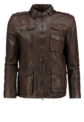 Tom Tailor Sanremo Leather Jacket Dark Brown