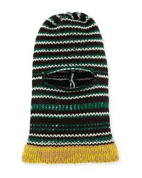 Calvin Klein 205W39nyc Balaclava Graphic Stripe Fitted Knit Hood Hat Multi Pattern
