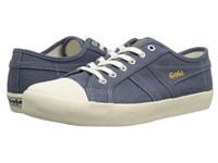Gola Coaster Linen Slate Blue Off White Men's Shoes