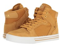 Supra Vaider Amber Gold White Skate Shoes Brown