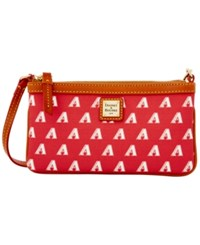 Dooney And Bourke Arizona Diamondbacks Mlb Large Wristlet Red