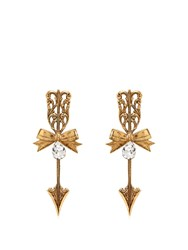 Rodarte Bow And Arrow Earrings Gold