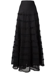 Givenchy Ruffle Trim Flared Skirt Black