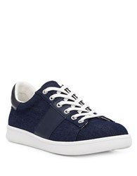 Sam Edelman Marquette Denim Sneakers Navy Blue Denim