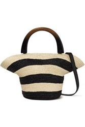 Eugenia Kim Woman Striped Straw Tote Ivory