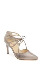 Paul Green Women's 'Justeen' Ghillie D'orsay Pump Smoke Metallic Leather