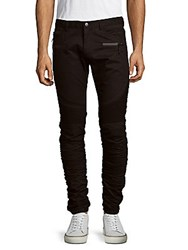 American Stitch Zippered Twill Pants Black