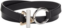 Alexander Wang Black Double Wrap Choker