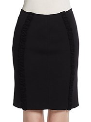 Alaia Ruched Trim Knit Skirt Black
