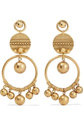 Elizabeth Cole Gold Plated Earrings One Size