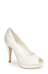 Menbur 'Julia' Peep Toe Pump Women Ivory