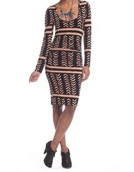 Plenty By Tracy Reese Ruched T Dress Black Tan