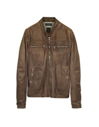 Forzieri Genuine Leather Brown Motorcycle Jacket
