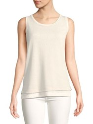 Jones New York Scoopneck Layered Tank Top Sage