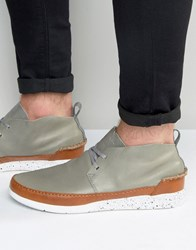 Boxfresh Statley Leather Trainers Grey