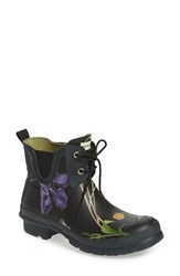 Women's Hunter 'Royal Horticultural Society' Waterproof Lace Up Short Rain Boot Black