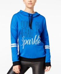 Material Girl Active Juniors' Graphic Hoodie Only At Macy's Cosmic Cobalt