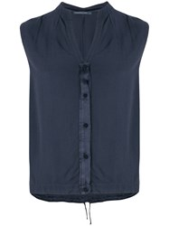 Transit Sleeveless Blouse Blue