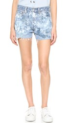 Rialto Jean Project Cutoff Shorts Navy White
