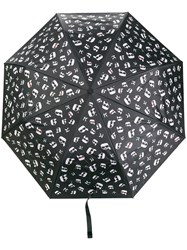 Karl Lagerfeld Ikonik Printed Umbrella Black