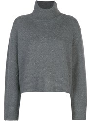 Co Roll Neck Sweater Grey