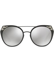 Bulgari Rounded Cat Eye Sunglasses 60