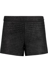 Alice Olivia Studded Suede Shorts Black