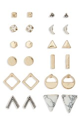 Junior Women's Bp. Geometric Stud Earrings Set Of 12 Gold