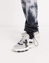 Bronx Sevety Street Trainers In Black White Multi